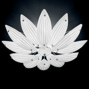 White gold and silver Murano glass flush ceiling light