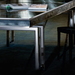Modern 3 metre Venetian mirror glass table