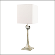 Flower table lamp with Swarovski Elements crystals