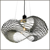 Mouldable steel ceiling pendant with choice of finishes