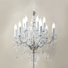Asfour crystal chandelier floor lamp in the Maria Theresa style