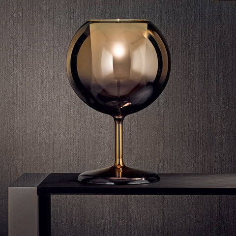 Penta round glass table lamp