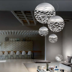 Kelly white mini sphere table lamp by Studio Italia Design