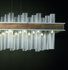 Modern mid-century 72 light tronchi dining table chandelier
