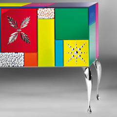 Multi-coloured bespoke Venetian glass sideboard
