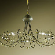 """Art nouveau"" style chandelier with 5 lights"