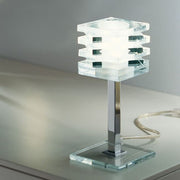 Modern Murano glass table lamp with rotatable discs