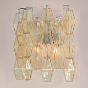 Modern mid-century Murano glass polyhedral wall light