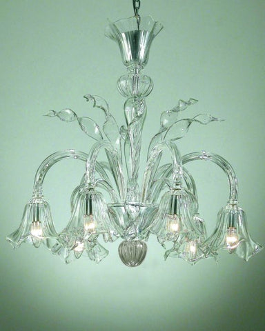 Murano glass chandelier with glass shades