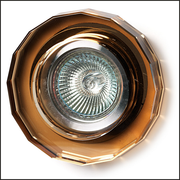 Amber glass recessed ceiling light