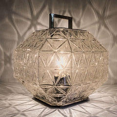Crystal table lantern with rose gold option