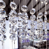 Italian crystal waterfall wall light on a PMMA frame