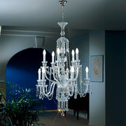 10 light English-style lead crystal and cut-glass chandelier