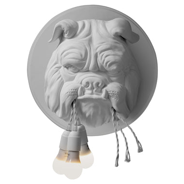 Bulldog ceramic wall lamp