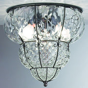 Classic Venetian 'baloton' crystal ceiling light fitting