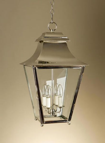 Modern indoor and outdoor lantern in bespoke finishes