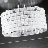 Circular frosted glass ceiling light fitting from Italy