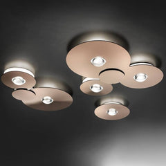 Bugia PL5 flush light in 4 metal finishes