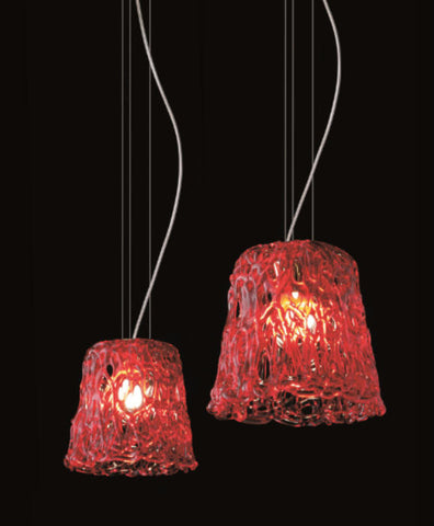 Red Murano Glass Contemporary Pendant