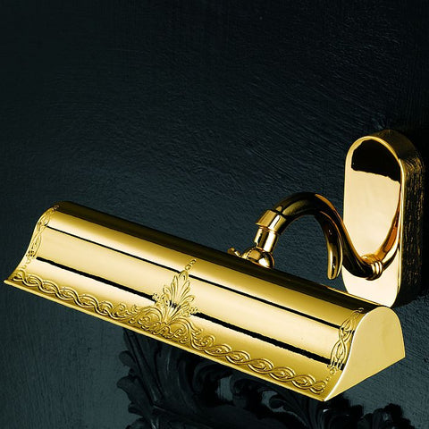 Formal gold-plated picture light from Italy