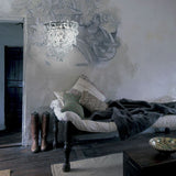 Modern Murano glass & chrome wall light