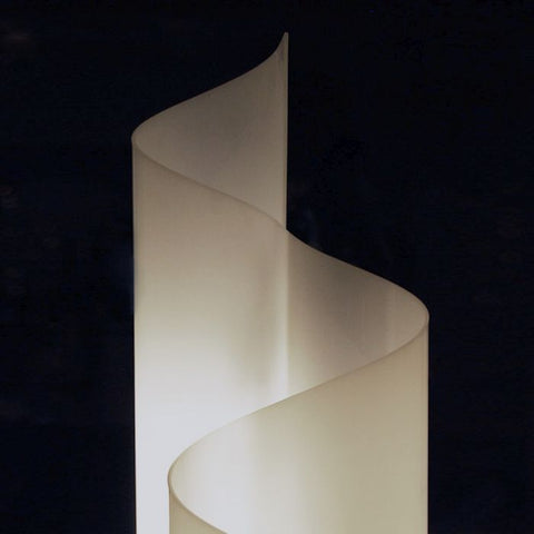 Chimera white polycarbonate floor light from Artemide