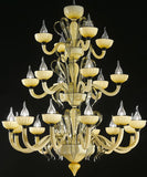 """Epoque"" 22 light champagne Murano glass chandelier"