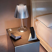 Miss K silvered acrylic table lamp by Philippe Starck
