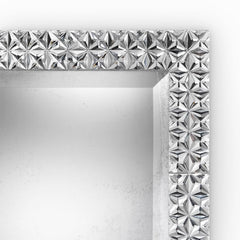 Stunning modern Venetian mirror with faceted glass tiles
