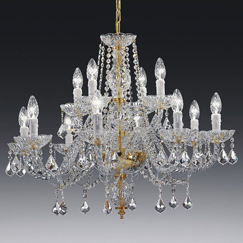 Twelve light cut lead crystal chandelier toledo 12 light luxury italian lead crystal chandelier with 12 lights on 2 tiers aloadofball Image collections