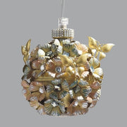 Spherical Gold Metal Chandelier with Swarovski Elements