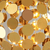 Modern gold or chrome globe wall light