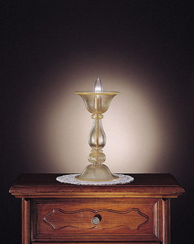 Murano glass candlestick table light