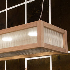 Long modern Italian dining table light in natural oak