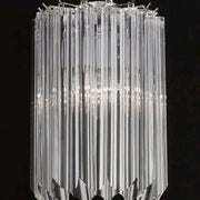 Venetian glass wall light with prismatic Murano glass rods
