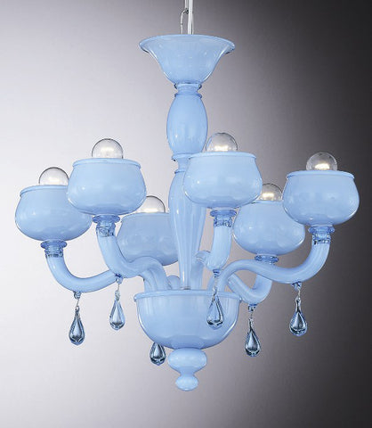 "Sky blue ""incamiciato"" chandelier"