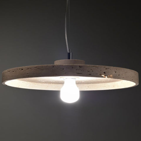 40 cm modern rustic Travertine or Carrara marble ceiling pendant