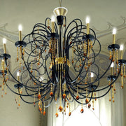 Large 12 light chandelier with Swarovski crystals