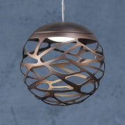 Kelly 40 cm white or bronze ceiling globe by Studio Italia Desig