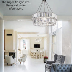 Luxury nine light glass prism hanging light with custom finishes
