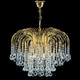 Gold-plated chandelier with Swarovski crystal baubles