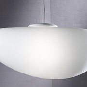Large milky-white ceiling pendant