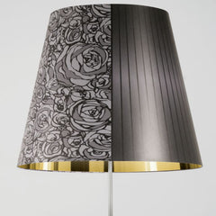 Melting Pot large dark floor lamp with gold or silver interior