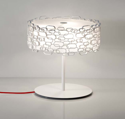 Glamour white gold or nickel lamp from Terzani