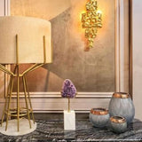 Lacquered Brass Organic Sculptural Wall Light