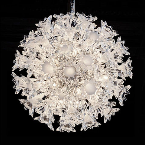 The iconic 60 cm clear Murano glass Esprit pendant from Venini
