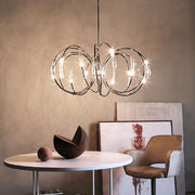 Hook nickel ring ceiling light by Terzani
