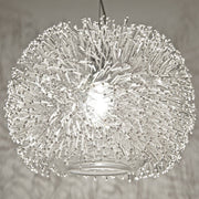 """Sea Urchin nickel globe pendant light from Terzani with Swarovski crystals"