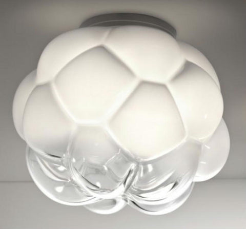 Cloudy F21 E05 white glass ceiling light from Fabbian