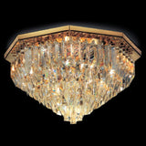 Custom finish lead crystal prism ceiling light